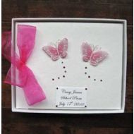 Personalised Pink Butterfly Occasion Book